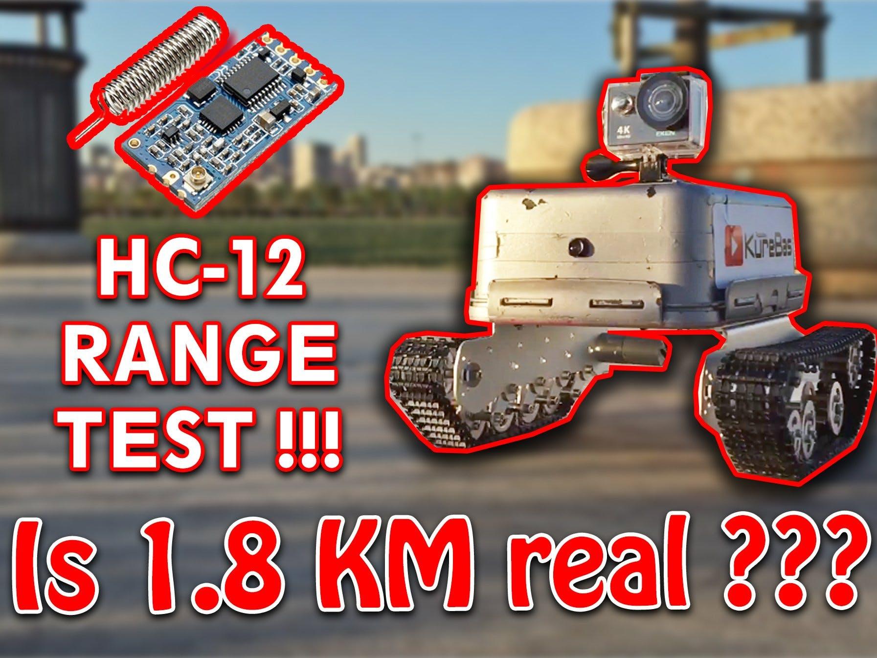 Arduino Long Range Explorer Tank KureBas V3.0 (HC-12 1.8 KM)