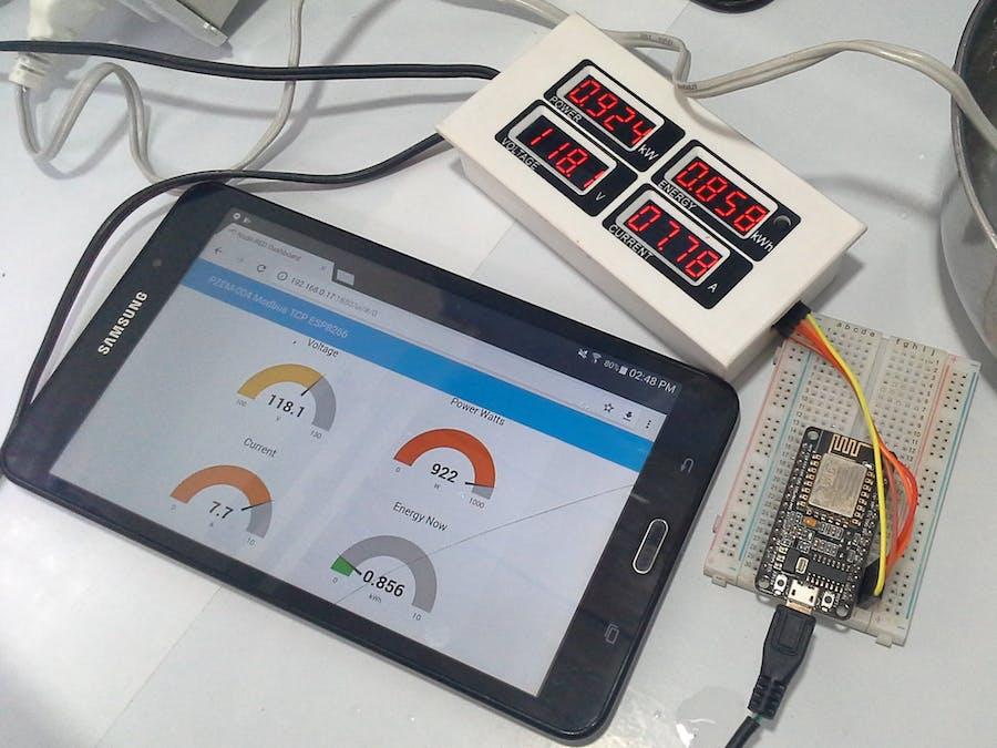 Meter PZEM-004 + ESP8266 & Node-RED & Modbus TCP/IP - Hackster io