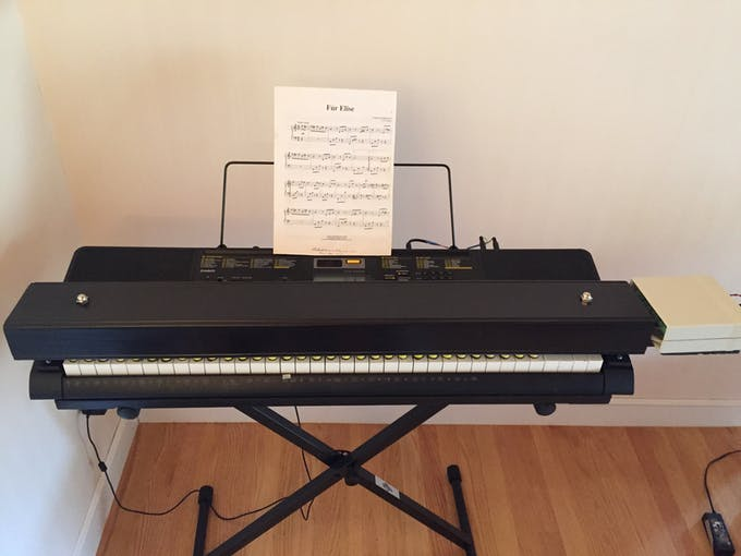Casio Player Piano with the Covers On