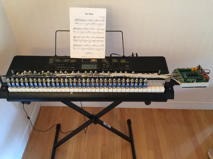 Casio Player Piano with the Covers Off