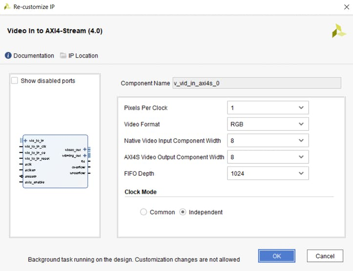 Configuring the Video In to AXIS IP