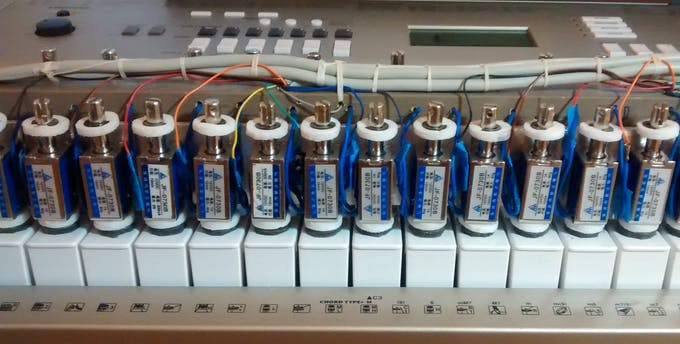 Crossbar Mounting and Cabling of the Solenoids