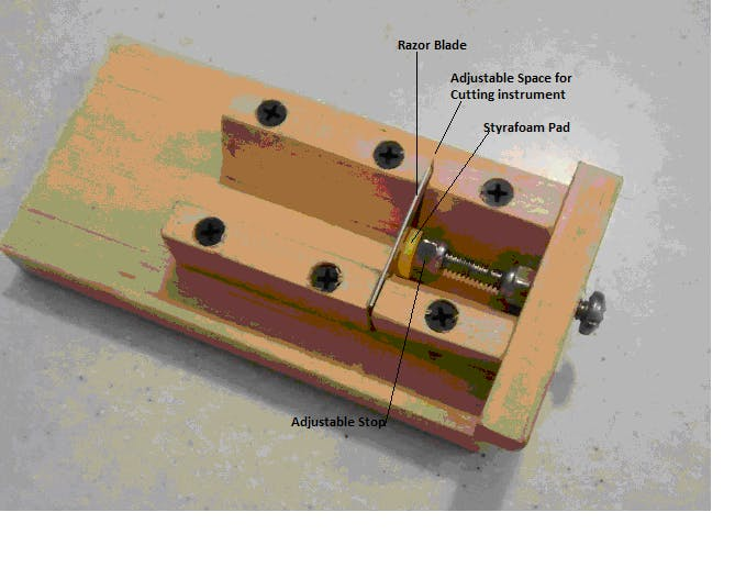 Image of the Miter Box Slicing Jig