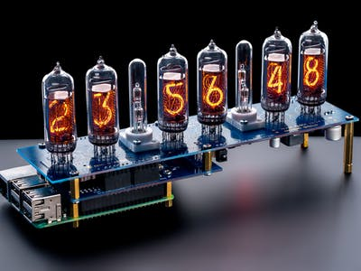 Nixie Display or Clock IN-14 Raspberry Pi HAT NCS314