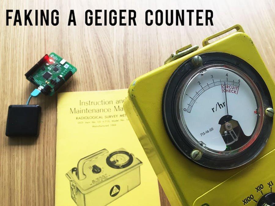 Fake Geiger Counter with Indoor Positioning