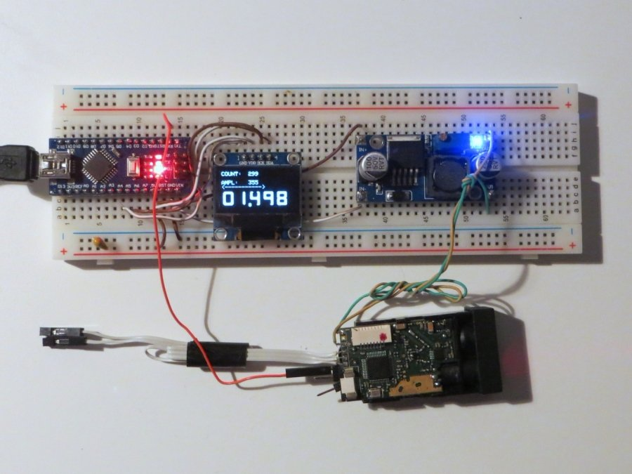 Laser range finder arduino code