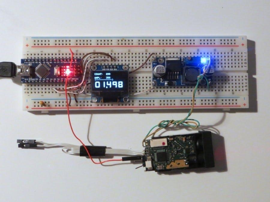Making a Cheap Laser Rangefinder for Arduino