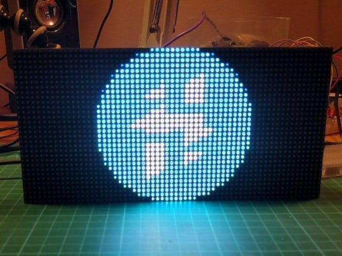 RGB LED Matrix with an ESP8266 - Hackster io