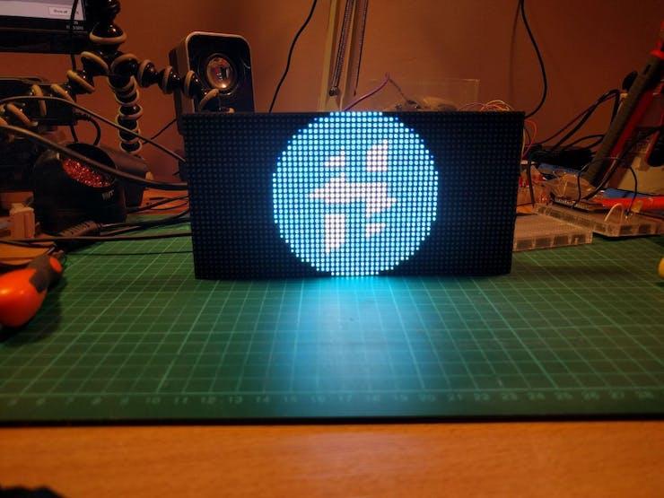 RGB LED Matrix with an ESP8266 - Hackster io
