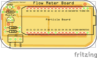 Flow meter board