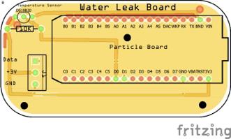 Water leak. Board