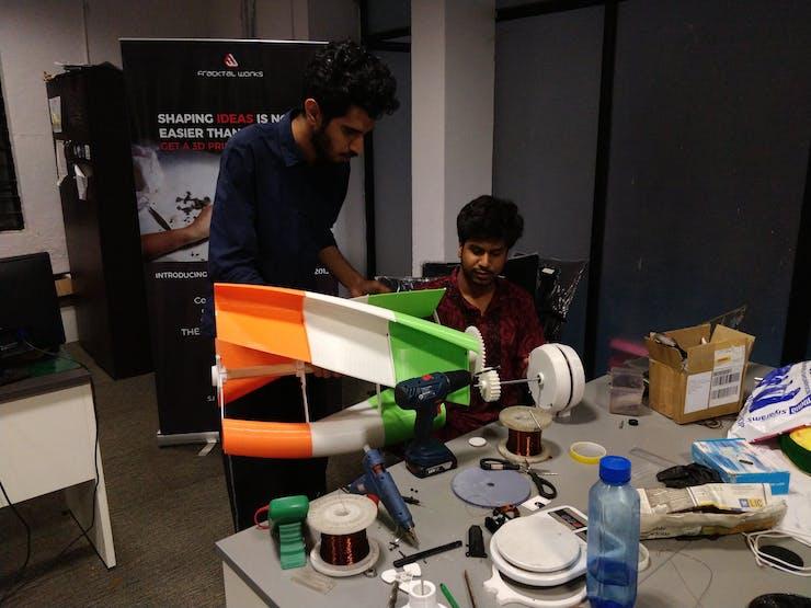 Assmembling turbine for initial testing