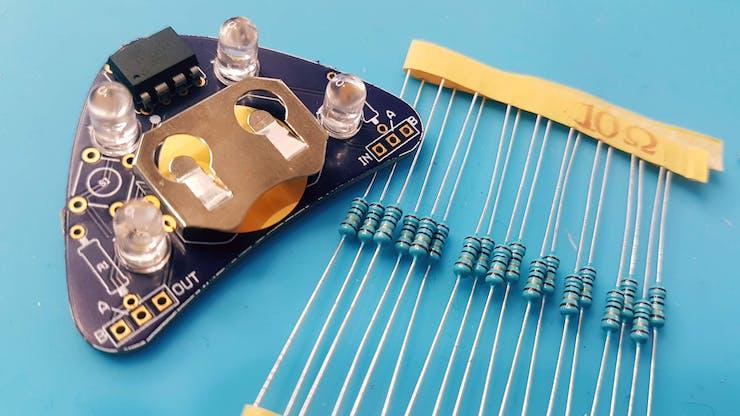 Use 10 0hm resistors.