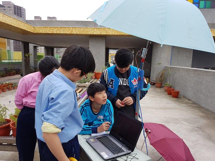 Measure the  data under the umbrella.