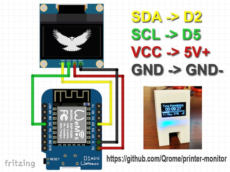 3D Printer Monitor for OctoPrint - Hackster io