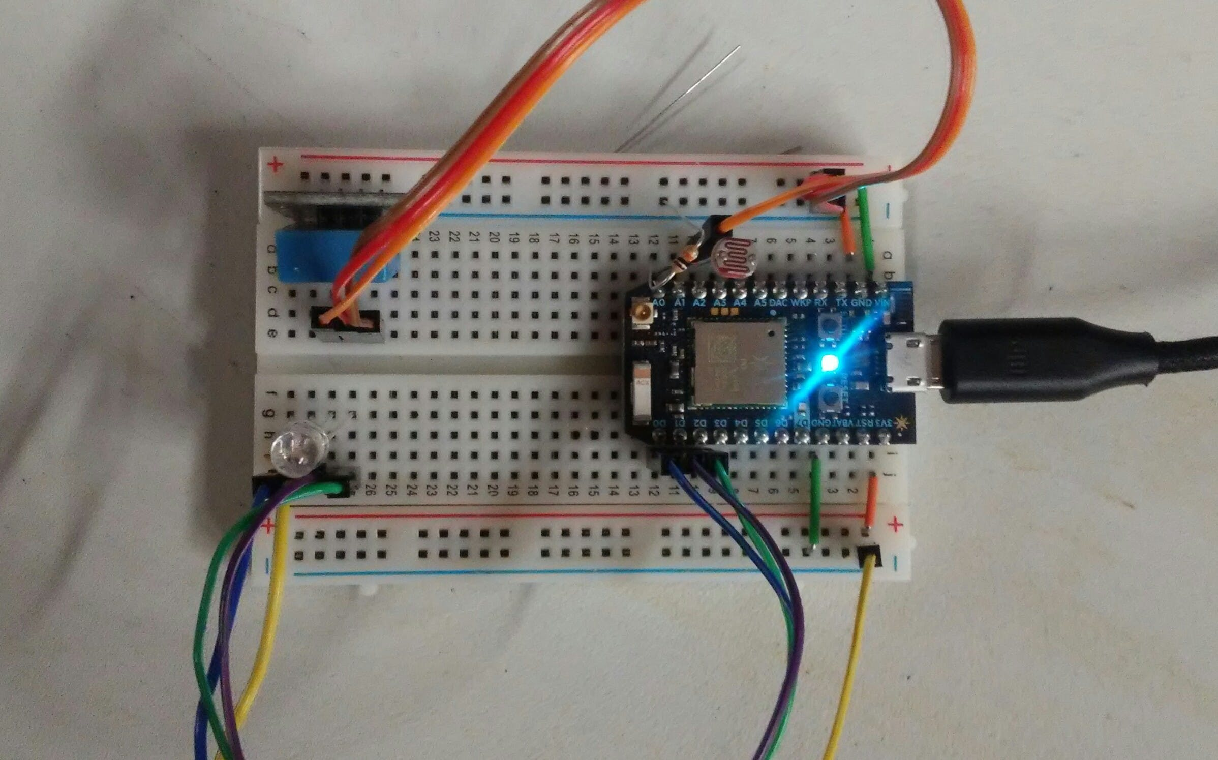 Photon with Multiple Sensors and an LED