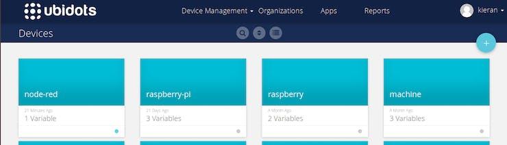 """node-red"" device within my Ubidots platform"