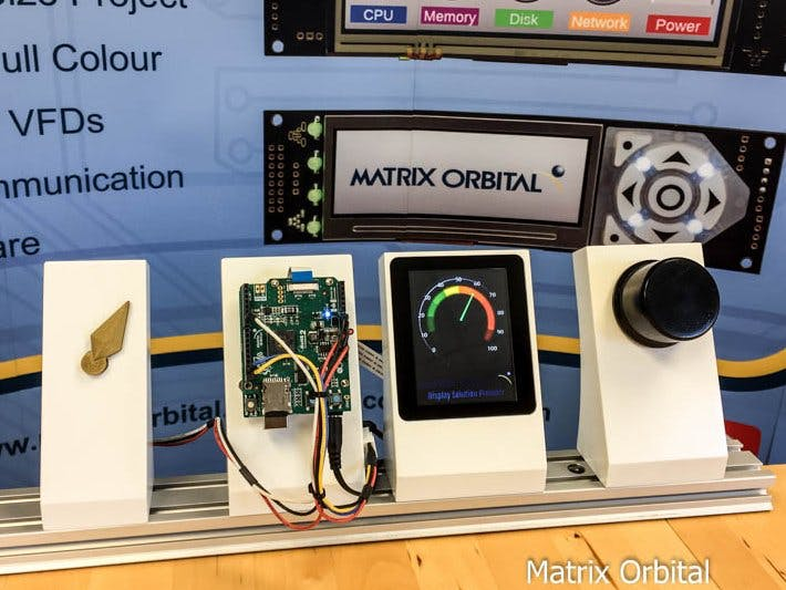 Matrix Orbital EVE2 TFT, Servo and an AMS Magnetic Sensor