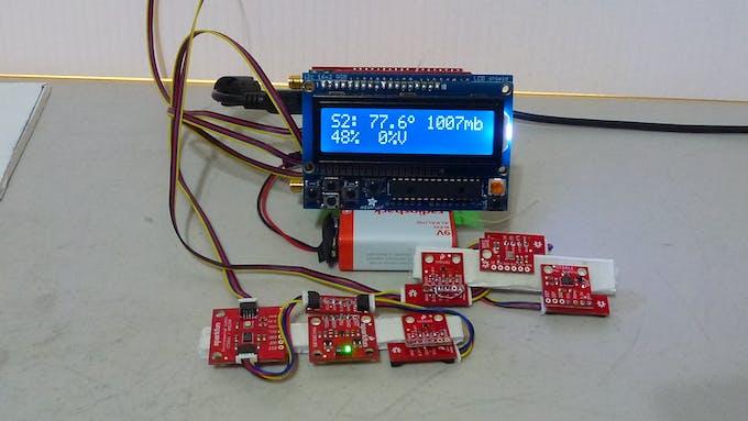 LCD with set 2 (S2) sensors on display