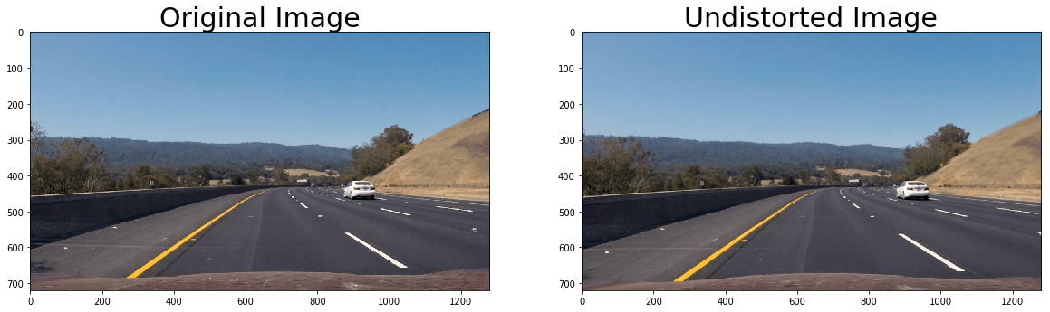 Distortion correction applied to a driving scene