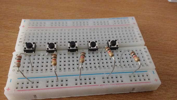One resistor per button
