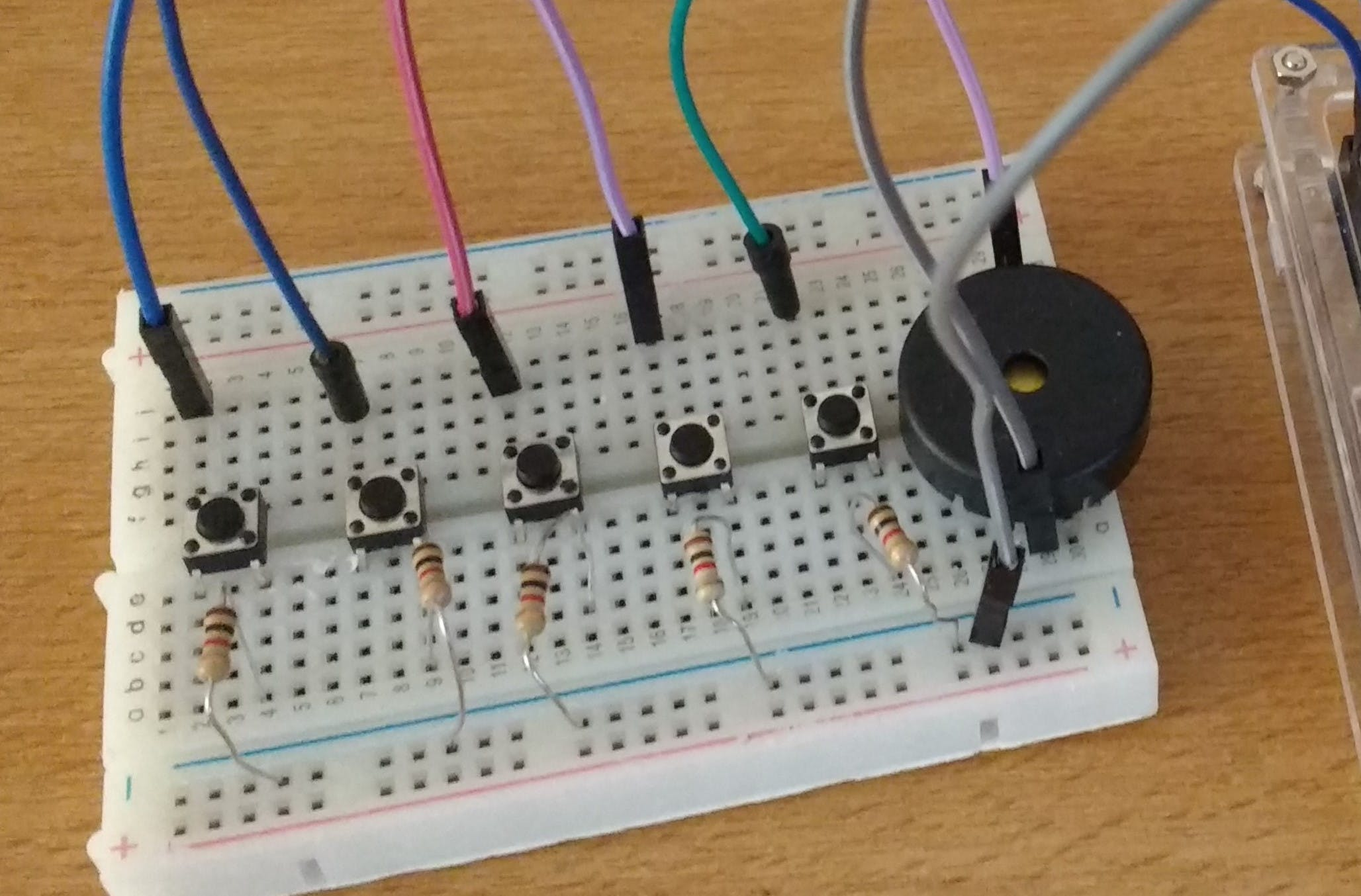 How the finished breadboard looks