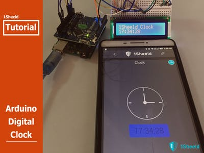 Arduino Digital Clock Using 1Sheeld
