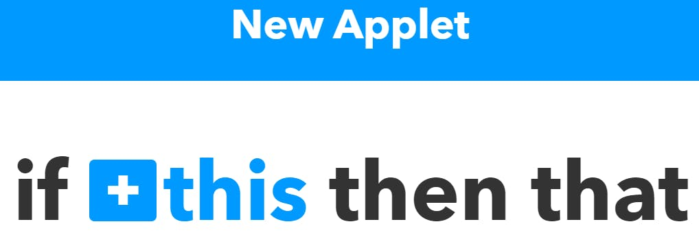 """Start with a new applet. Select """"this"""""""