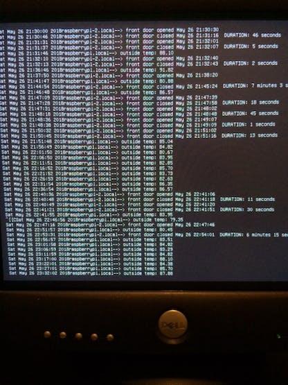 Live logging on UDP server
