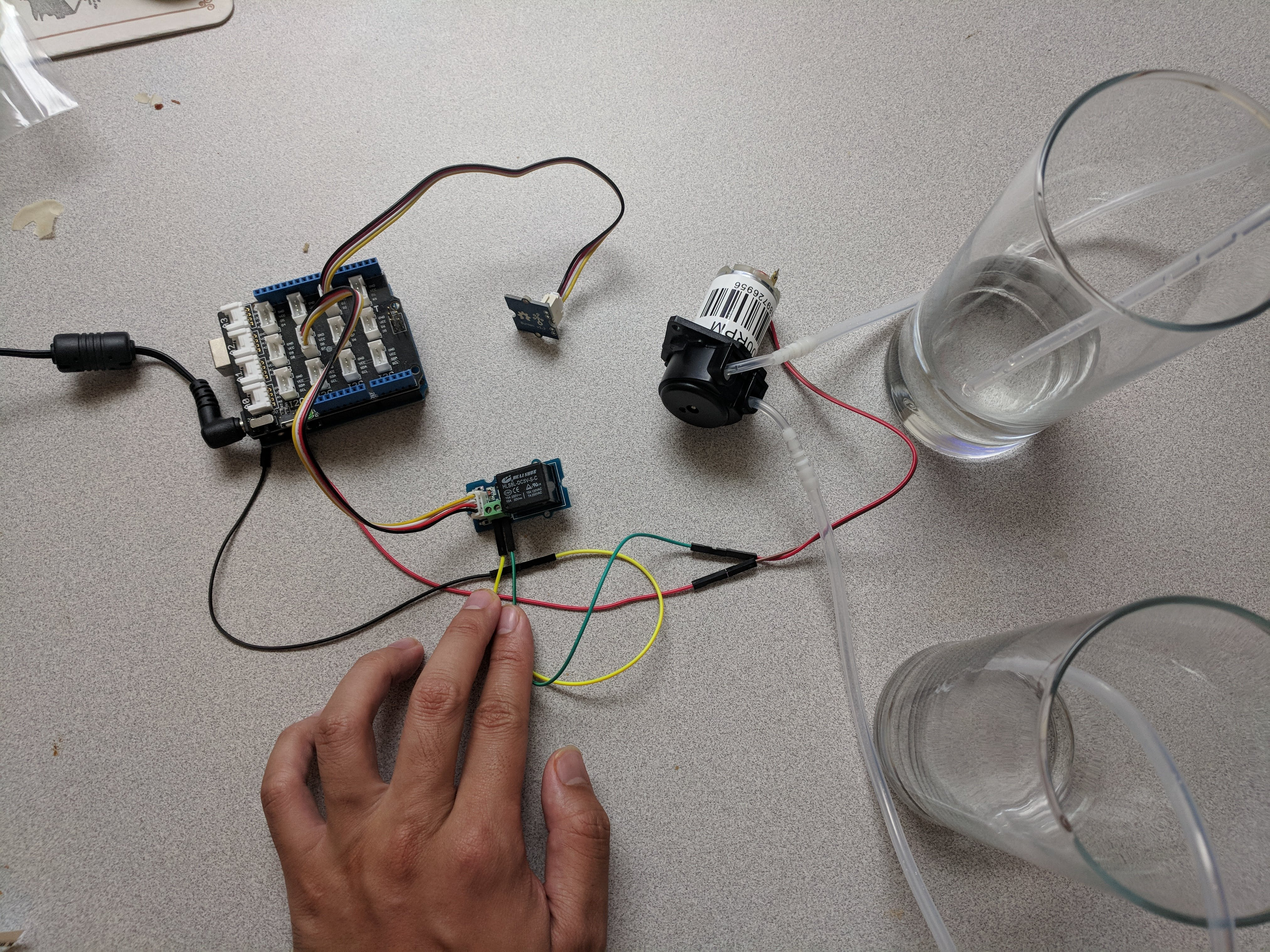 Arduino with Water Pump