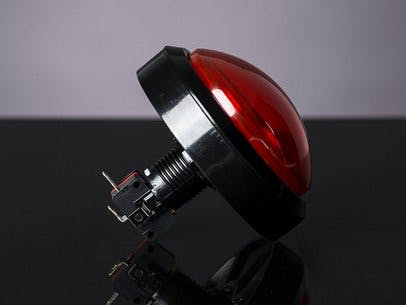 Big red arcade button (100mm)