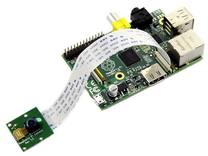 Raspberry pi with a camera module