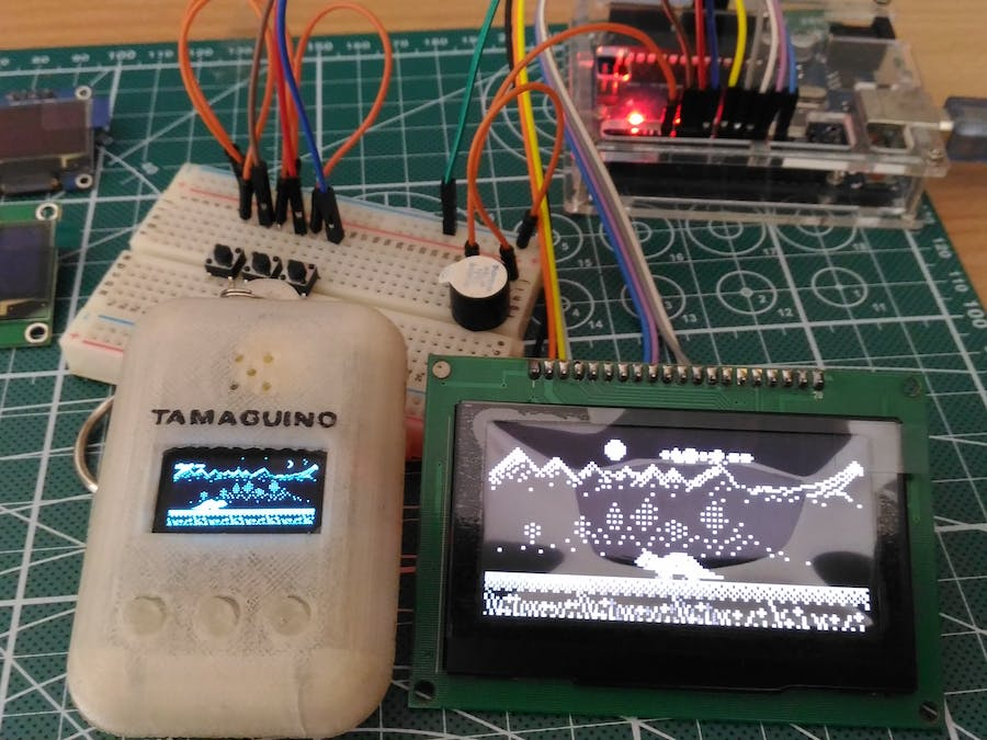 Tamaguino Update with Huge OLED - Hackster io
