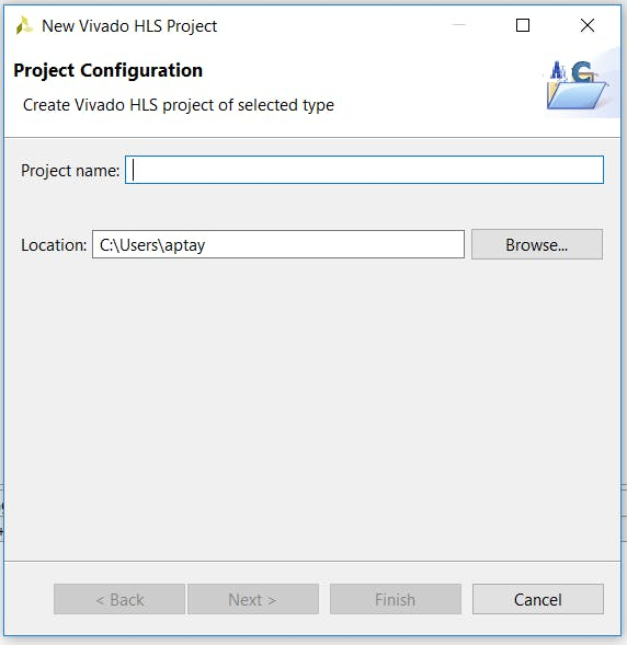 Defining the project name and location