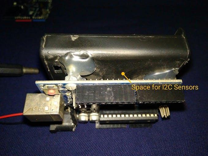 Space for sensor