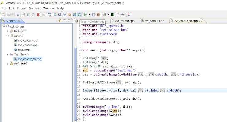 Using HLS on an FPGA-Based Image Processing Platform