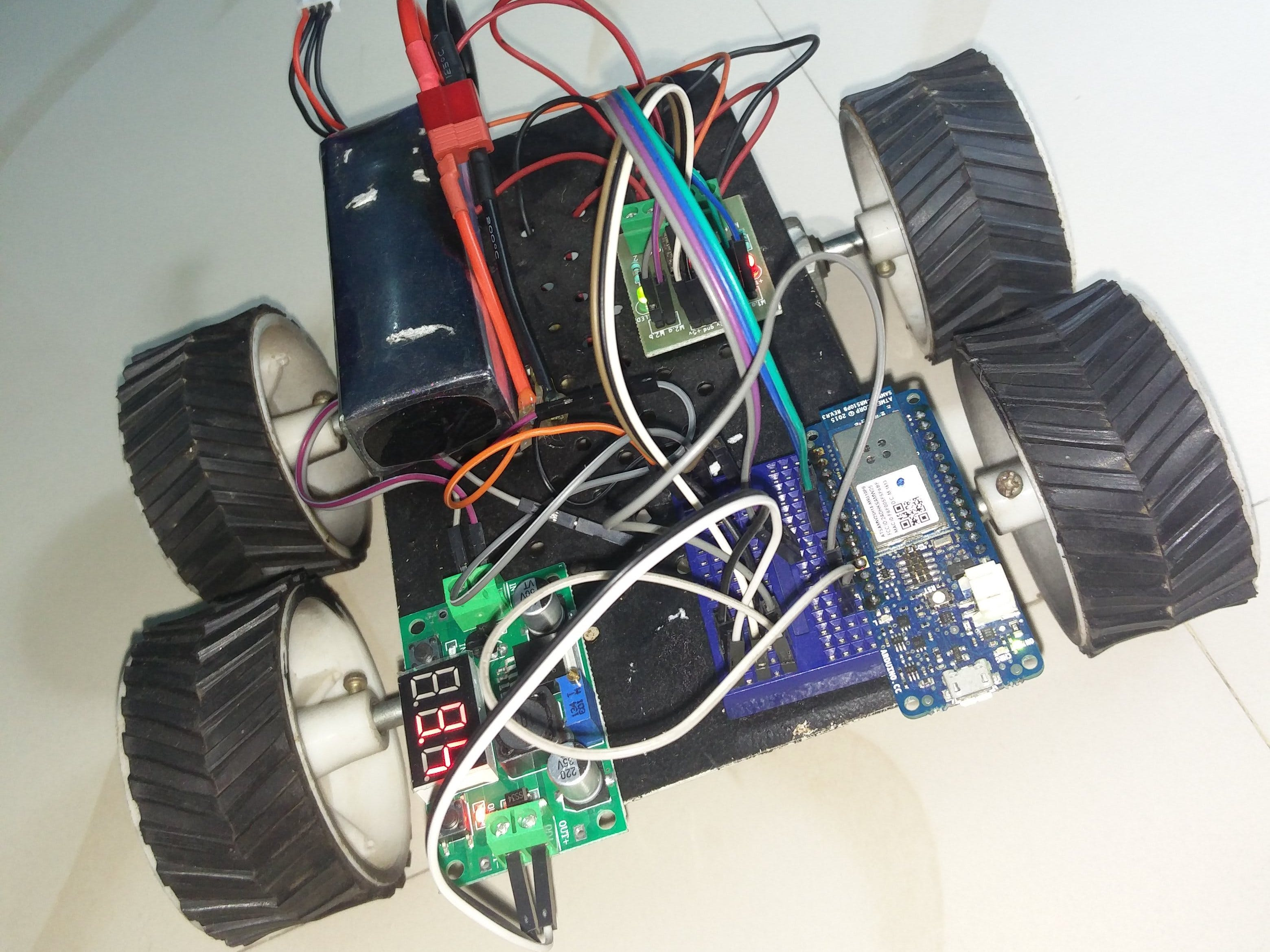Arduino WiFi Robot Control Using Mobile Phone