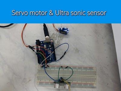 Servo Motor & Ultrasonic Sensor