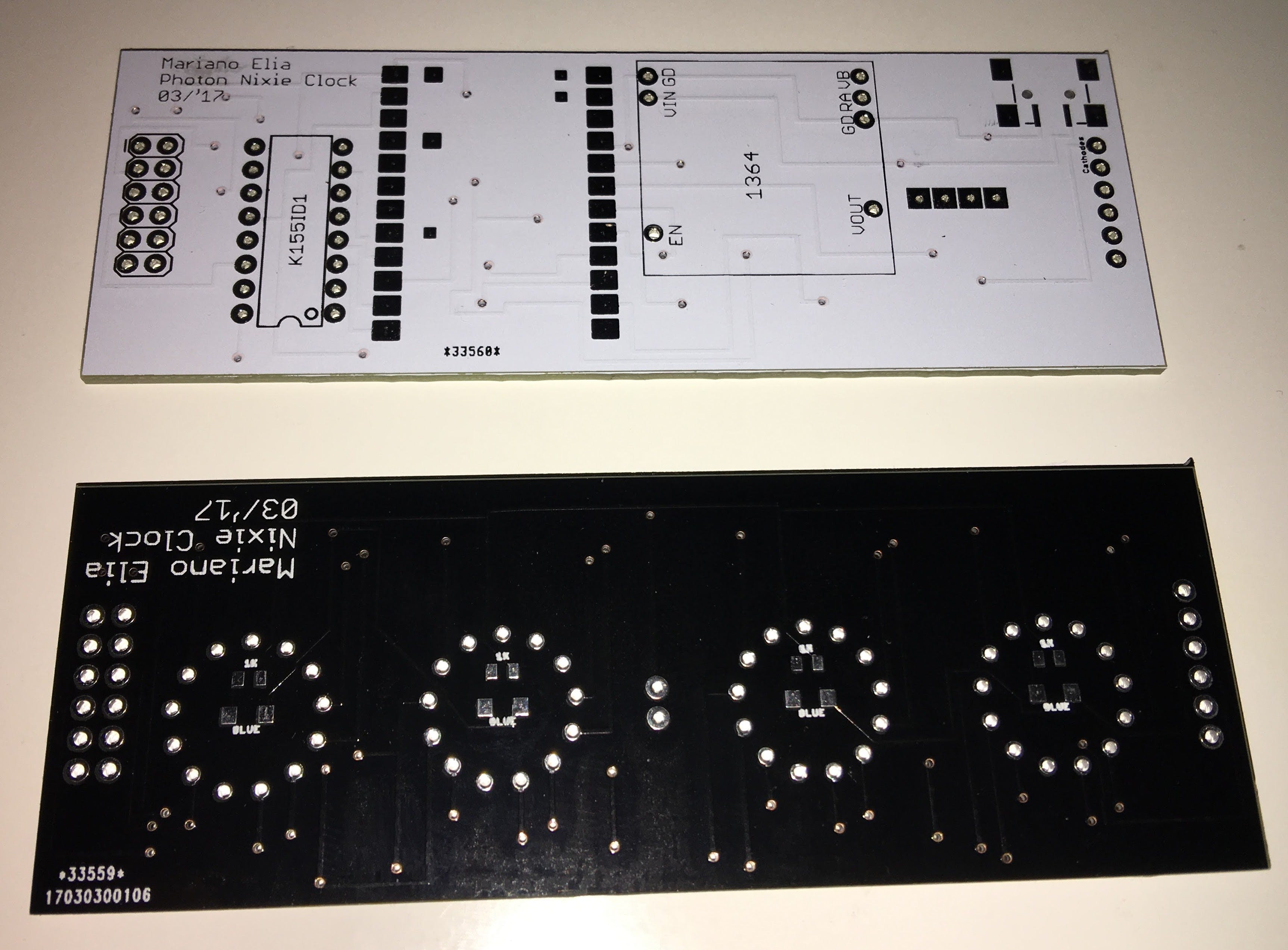Unpopulated PCB Top