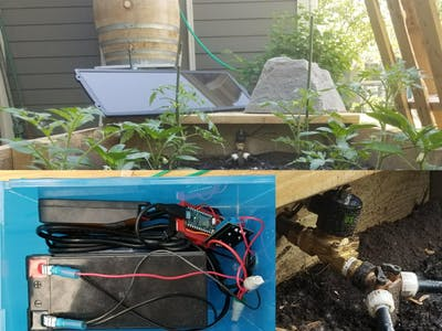 Solar Powered IoT Rain Barrel