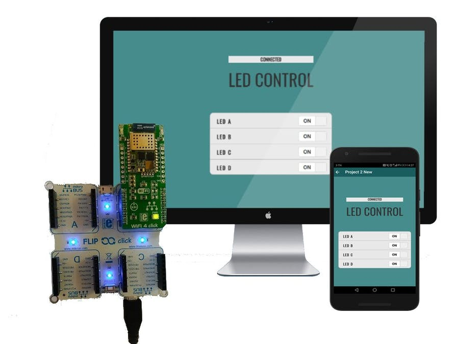 Flip&Click Board LED Control Using Zerynth App and Python