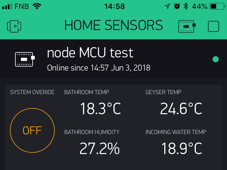 Bathroom Extractor Fan - NodeMCU with Blynk