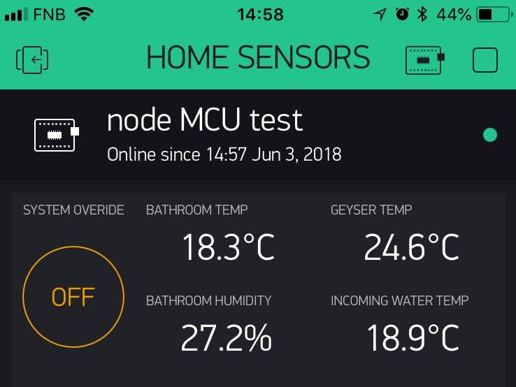 Bathroom Extractor Fan - NodeMCU with Blynk