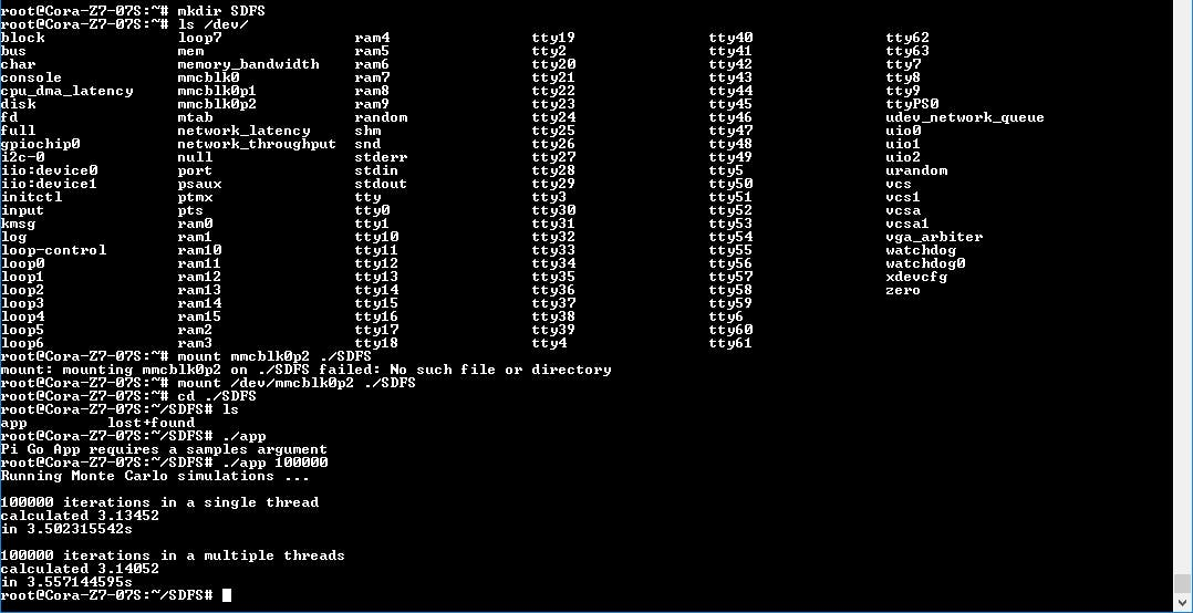 Estimating Pi with a Cora Z7 Running Linux - Hackster io