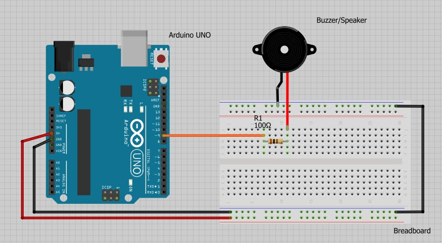 Fabulous Use A Buzzer Module Piezo Speaker Using Arduino Uno Arduino Wiring Cloud Nuvitbieswglorg