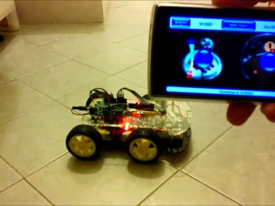 Arduino 4WD Rover Bluetooth Controlled by an Android device
