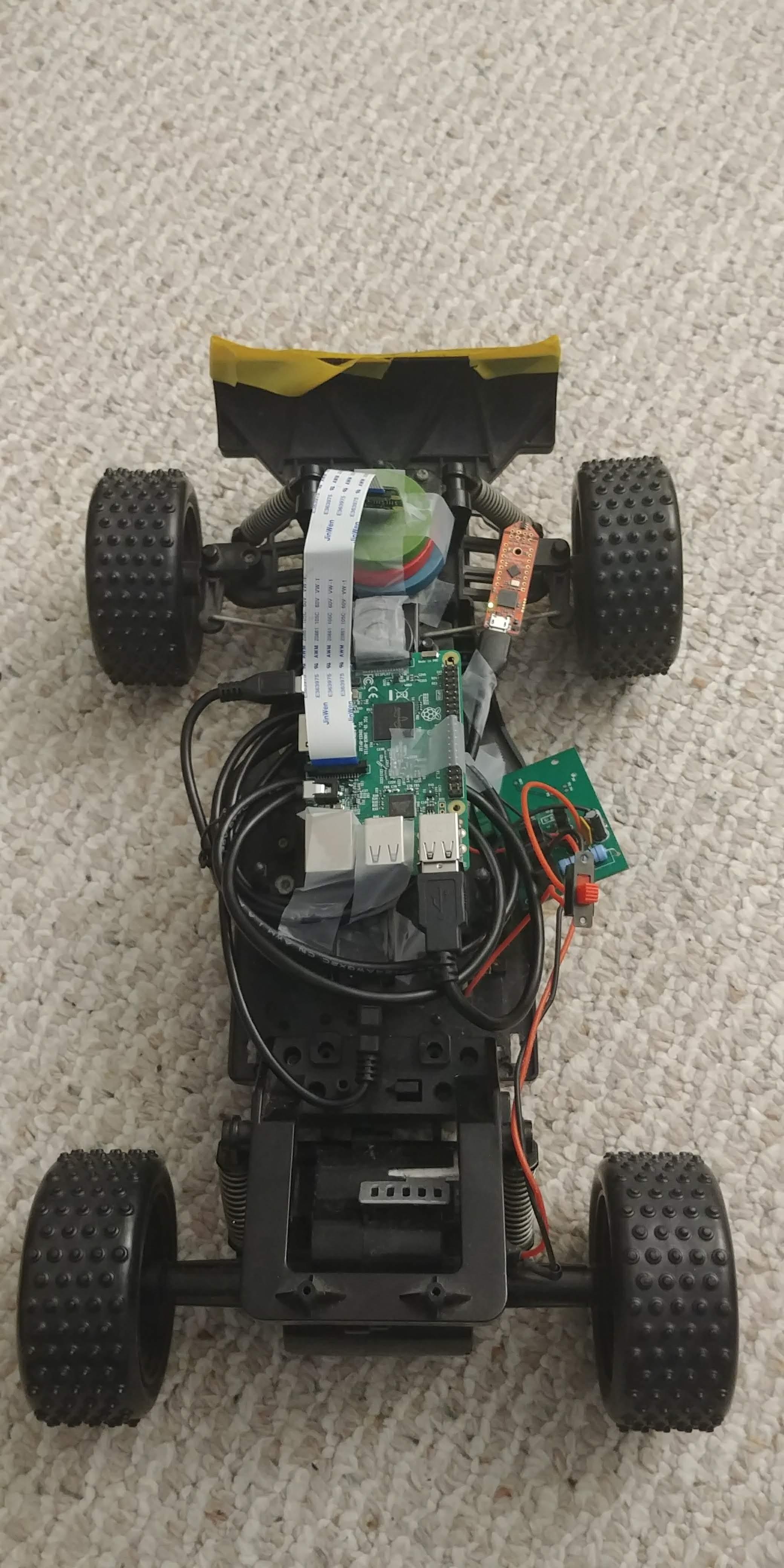 Car + Pi + Camera + Infineon sensor