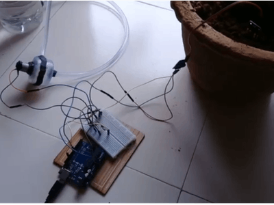 Automatic Plant Watering System Using Arduino Uno