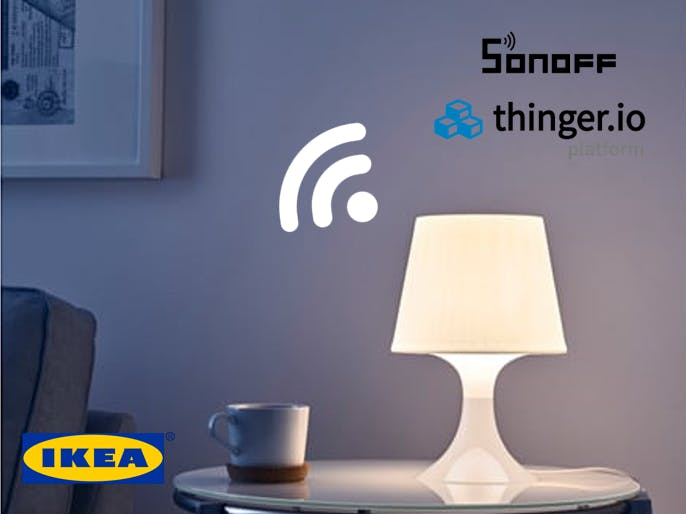 Smart Lamp with IKEA Lampan, Sonoff and Thinger.io
