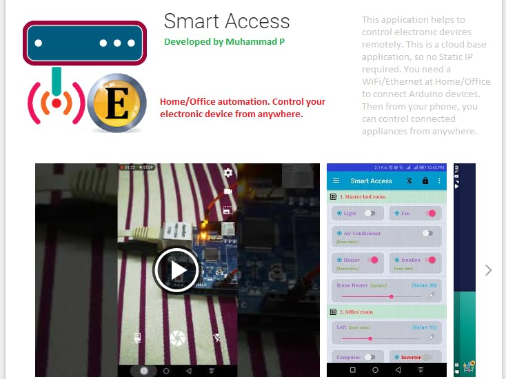 Smart Access [Home/Office Automation]